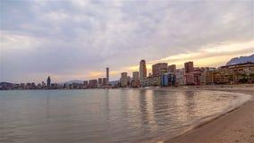 Playa Front City Dramatic Sunset almacen de video