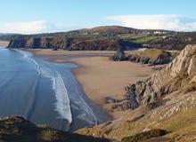 Playa Galés, el Gower Imágenes de archivo libres de regalías
