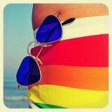 Playa gay Imágenes de archivo libres de regalías