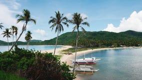 Playa gemela, EL Nido, Palawan Fotos de archivo libres de regalías