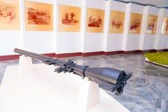 PLAYA GIRON, CUBA - 9 DE SEPTIEMBRE DE 2015: El museo muestra la historia curiosa en la bahía del ataque de los cerdos imágenes de archivo libres de regalías