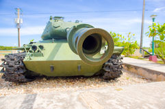 PLAYA GIRON, CUBA - SEPTEMBER 9, 2015: Museum shows the curious story in Bay of Pigs attack royalty free stock photo