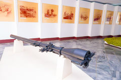 PLAYA GIRON, CUBA - SEPTEMBER 9, 2015: Museum shows the curious story in Bay of Pigs attack royalty free stock images