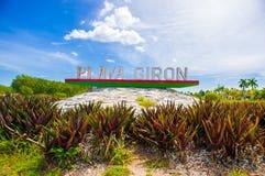Playa Giron, no mar das caraíbas, Cuba imagens de stock
