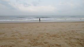 Playa Goa de Candolim Foto de archivo libre de regalías