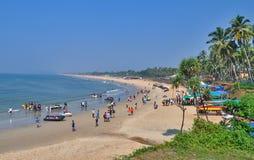 Playa Goa, la India de Sinquerium Imagen de archivo