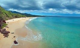 Playa grande en la isla de Maui Hawaii Imágenes de archivo libres de regalías
