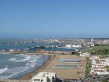 Playa grande, Mar del Plata, Buenos Aires immagine stock libera da diritti