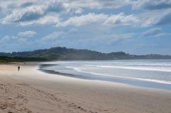 Playa grande, península de Nicoya, Costa Rica foto de archivo