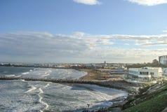 Playa grandioso, Mar del Plata, Buenos Aires fotografia de stock
