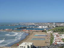 Playa grandioso, Mar del Plata, Buenos Aires Imagem de Stock Royalty Free