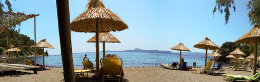 Playa griega Fotografía de archivo libre de regalías