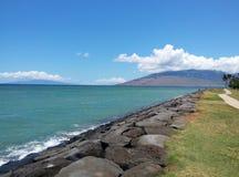 Playa hawaiana en Maui Imágenes de archivo libres de regalías