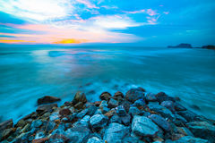 Playa hecha de piedra fotografía de archivo libre de regalías
