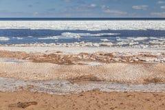 Playa helada Imágenes de archivo libres de regalías