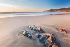 Playa Devon de Combesgate Fotos de archivo libres de regalías