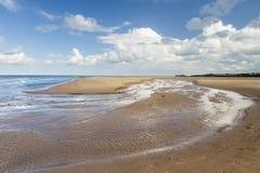 Playa hermosa de la arena en Malahide, Dublín, Irlanda Fotos de archivo libres de regalías