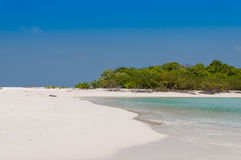 Playa hermosa de la isla en Maldivas Fotografía de archivo libre de regalías