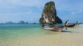 Playa hermosa de Railay Krabi, Tailandia Imágenes de archivo libres de regalías