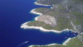 Playa hermosa de Stiniva almacen de video
