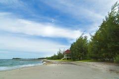 Playa hermosa del paisaje Imágenes de archivo libres de regalías