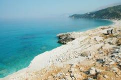 Playa hermosa en Albania Fotos de archivo libres de regalías