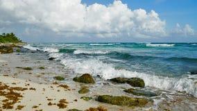 Playa hermosa en Cancun México Imagen de archivo libre de regalías