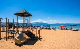 Playa hermosa en el lago Tahoe, California foto de archivo libre de regalías