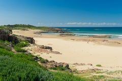 Playa hermosa en el puerto Stephens Imágenes de archivo libres de regalías