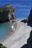 Playa hermosa en Grecia Fotos de archivo