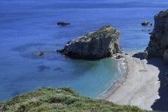 Playa hermosa en Grecia Imagenes de archivo