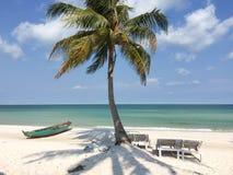 Playa hermosa en la isla de Phu Quoc Imagen de archivo libre de regalías