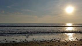 Playa Hermosa en la oscuridad Imagen de archivo