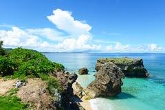 Playa hermosa en Okinawa fotografía de archivo