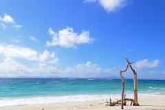 Playa hermosa en Okinawa Foto de archivo libre de regalías