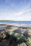 Playa hermosa en un período de la marea baja Imagen de archivo