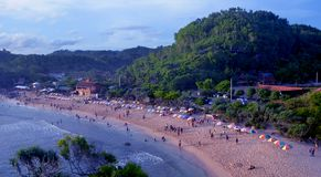 Playa hermosa Indonesia del paraíso de Indrayanti Foto de archivo libre de regalías