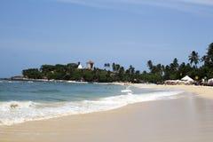 Playa hermosa, la India fotos de archivo