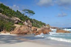 Playa hermosa por la tarde Fotografía de archivo