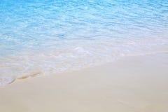 Playa hermosa y mar tropical Fotografía de archivo