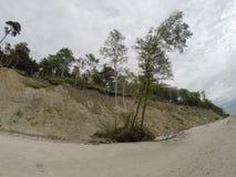 Playa holandesa del kepure de Olando del sombrero cerca de Karkle, Klaipeda, Lithu fotos de archivo