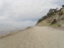 Playa holandesa del kepure de Olando del sombrero cerca de Karkle, Klaipeda, Lithu fotografía de archivo