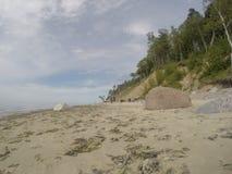Playa holandesa del kepure de Olando del sombrero cerca de Karkle, Klaipeda, Lithu foto de archivo libre de regalías