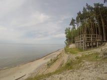 Playa holandesa del kepure de Olando del sombrero cerca de Karkle, Klaipeda, Lithu imagenes de archivo