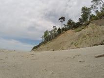 Playa holandesa del kepure de Olando del sombrero cerca de Karkle, Klaipeda, Lithu fotografía de archivo libre de regalías