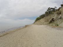 Playa holandesa del kepure de Olando del sombrero cerca de Karkle, Klaipeda, Lithu imagen de archivo libre de regalías