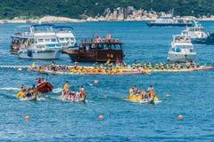 Playa Hong Kong de Stanley de la raza del festival de barcos de dragón Fotografía de archivo