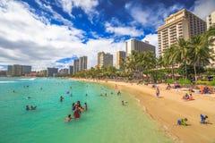 Playa Honolulu de Kuhio Fotos de archivo libres de regalías
