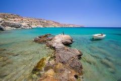 Playa idílica de Vai en Crete Imagen de archivo
