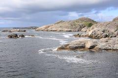 Playa idílica en Noruega Fotos de archivo